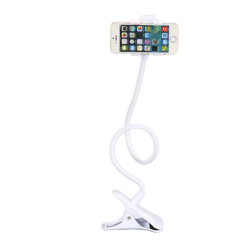 Universal 360 Rotating Lazy Mobile Phone Clip Holder GPS Desk Bed Table Stand Mount For Iphone Cellphone