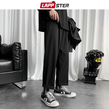 LAPPSTER Mens Black Korean Harem Pants 2020 Japanese Streetwear Joggers Harajuku Sweatpants Hip Hop Casual Trousers Plus Size 1