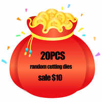 20pcs Metal Cutting Dies $10 Lucky Bag for Craft Scrapbooking High Quality Surprise Gift Card Making Decoration