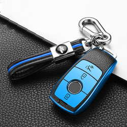 Hight quality TPU Leather Car Key Case Cover Holder For Mercedes Benz S E Class E300 E200 E220 W213 2017 2018 Accessories
