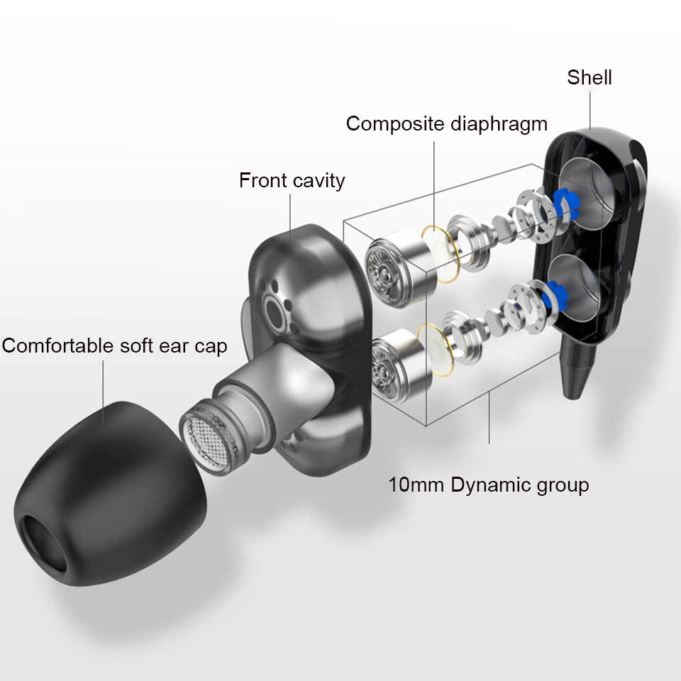 Olhveitra 3.5 ミリメートルイヤホン有線ヘッドセットゲーマーコンピュータiphoneサムスンxiaomiデュアルドライブステレオスポーツイヤフォンマイク