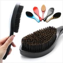 Beard-Brush Shaving-Brush-Comb Boar Bristle Barba for Men Cepillo Facial-Hair Brocha