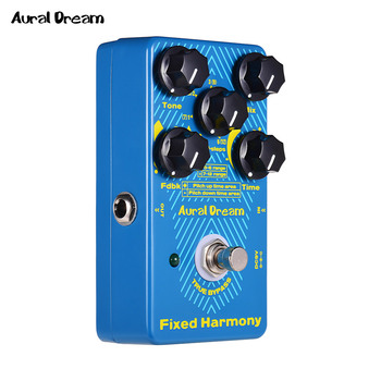 Aural Dream Fixed Harmony Digital Guitar Effects Pedal Aluminum Alloy Shell True Bypass Single Effects Guitar Accessories