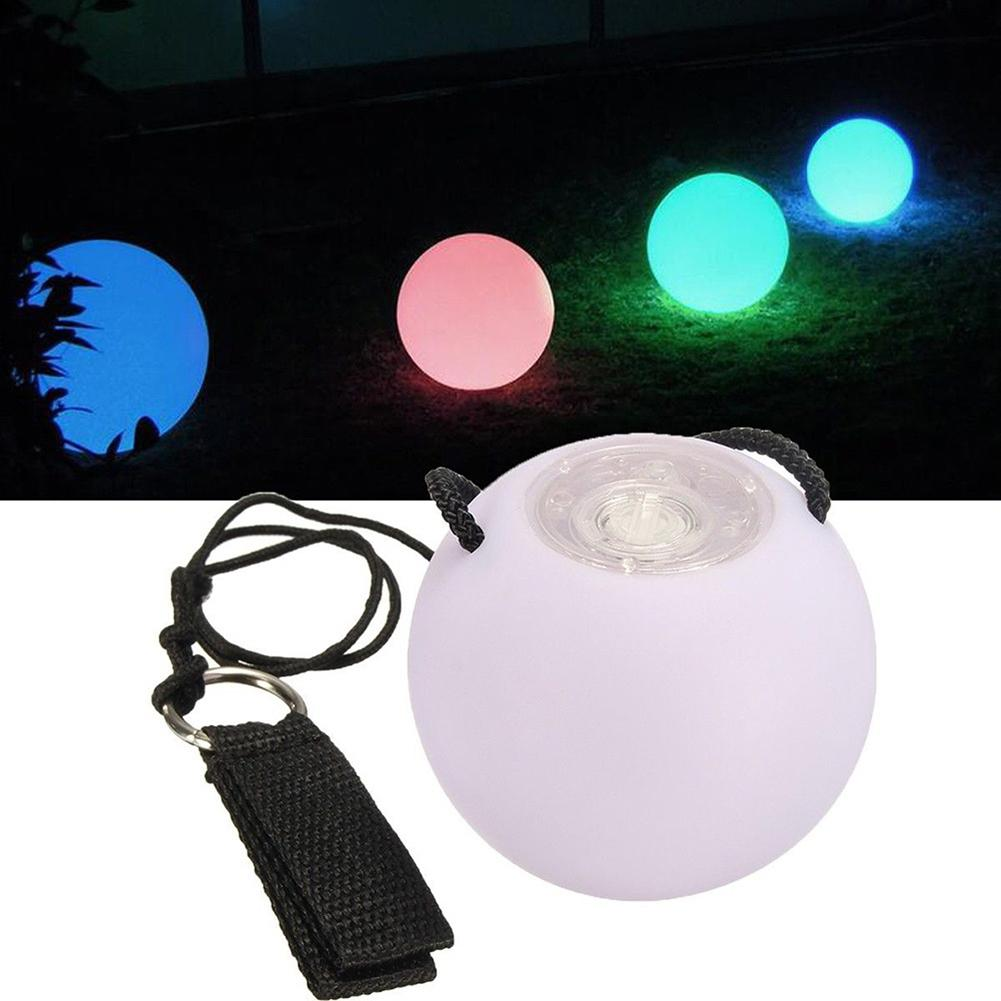 Throwing Waterproof Light Lamp Ball With LED Light For Kid Toy Stage Outdoor Garden Room Game Multi Color Ball