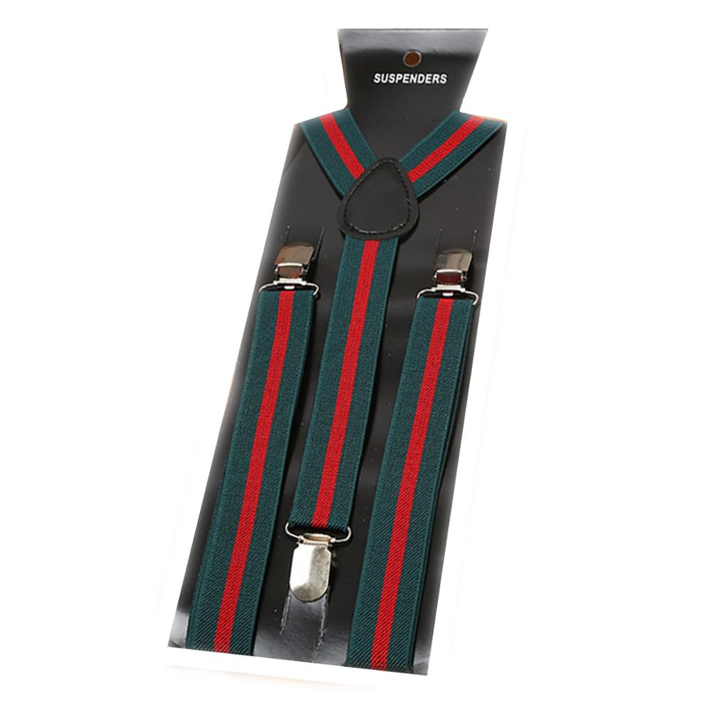 Unisex Adult Elasticity Suspenders Stripe 19 Styles Wide 2.5cm 3 Clip For Men Women Breces For Suspenders Gentleman Gift