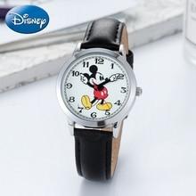 2020 новинка Микки конструктор дети часы дети кожа ремешок Япония кварц часы мальчик девочка день рождения подарок часы молодые счастливые время