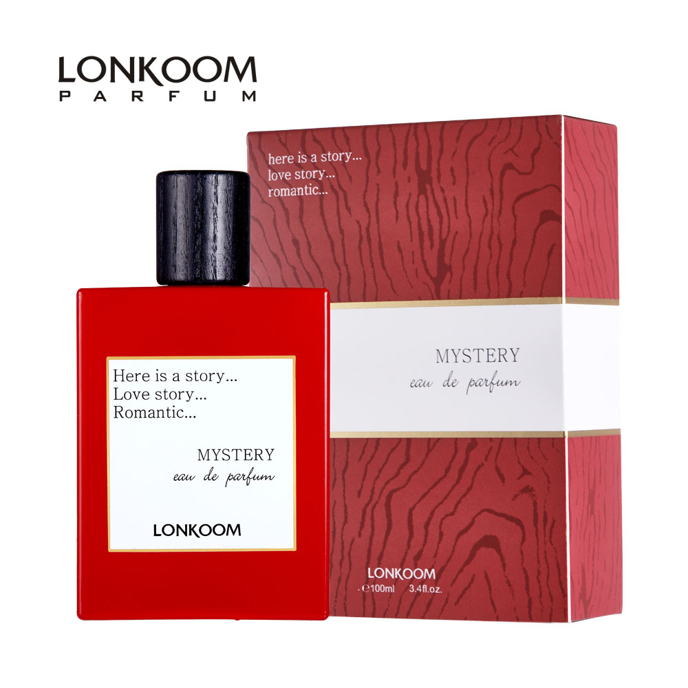 LONKOOM Perfume MYSTERY Red Floral-Fruity Scent Fragrance Unisex Perfume Eau De Parfum Antibacterial Spray 100ml Free Shipping