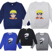 Naruto boy hoodie fashion casual kids toddler long sleeve hatake