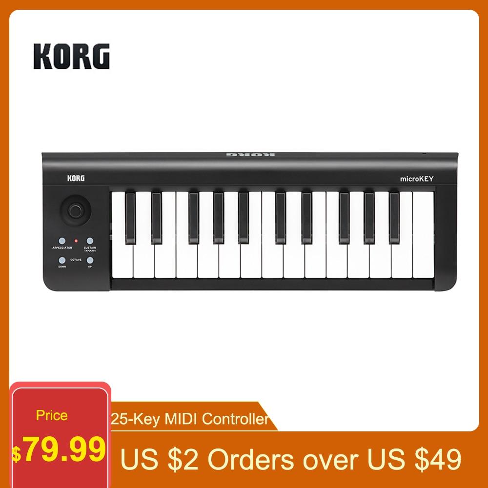KORG microKEY-25 MIDI Controller 25-Key MIDI Keyboard Controller Compact USB for iPhone / iPad for Mac for Windows for Computer