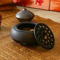 Cast Iron Burning Stove Alcohol Honeycomb Furnace Carbon Charcoal Heating Teapot Copper Base Insulation