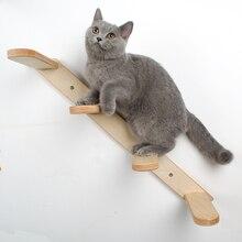 Кошка деревянная стена Водонепроницаемая Березовая игрушечная лестница длиной 60 см