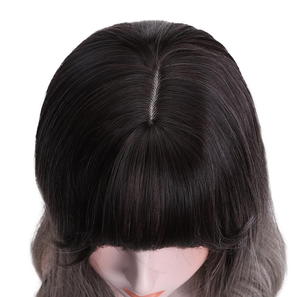 Yiyaobess preto roxo cinza ombre peruca com