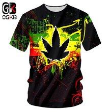 Ogkb новая модная футболка с круглым вырезом 3d принтом «трава»