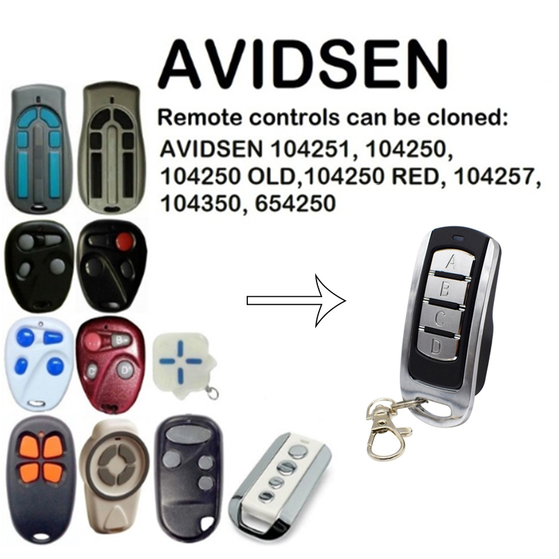 For AVIDSEN 104251, 104250, 104257, 104350, 654250 Duplicator Remote Control