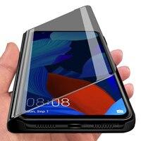 Nova 5 T Case Spiegel Flip Case Voor Huawei Nova 5 T Hauwei Hawei 5 T T5 Nova T5 Yal-l21 6.26 ''Telefoon Cover Huiweiy Nova T5 Stand Gevallen