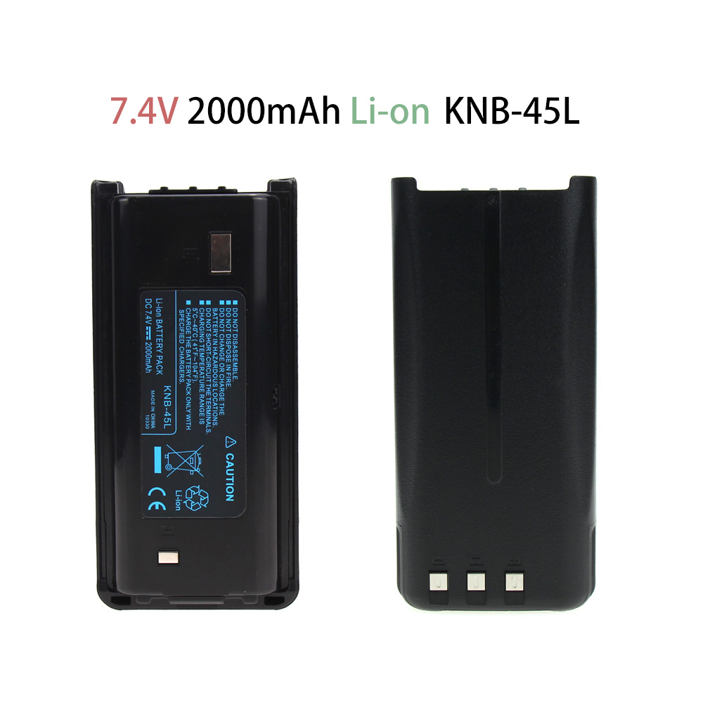 2000mAh Li-Ion Battery For Kenwood KNB-45L TK-2207 TK-3207 TK-2312 TK-3312