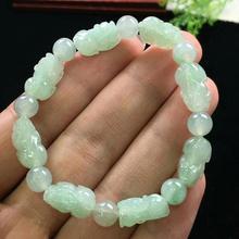 Natural Jade A Bracelets Gemstone Crystal Stretch Pi XIu Beads Stone 19x13mm Women Men Pi Xiu Pendant Bracelets Jewelry AAAAA