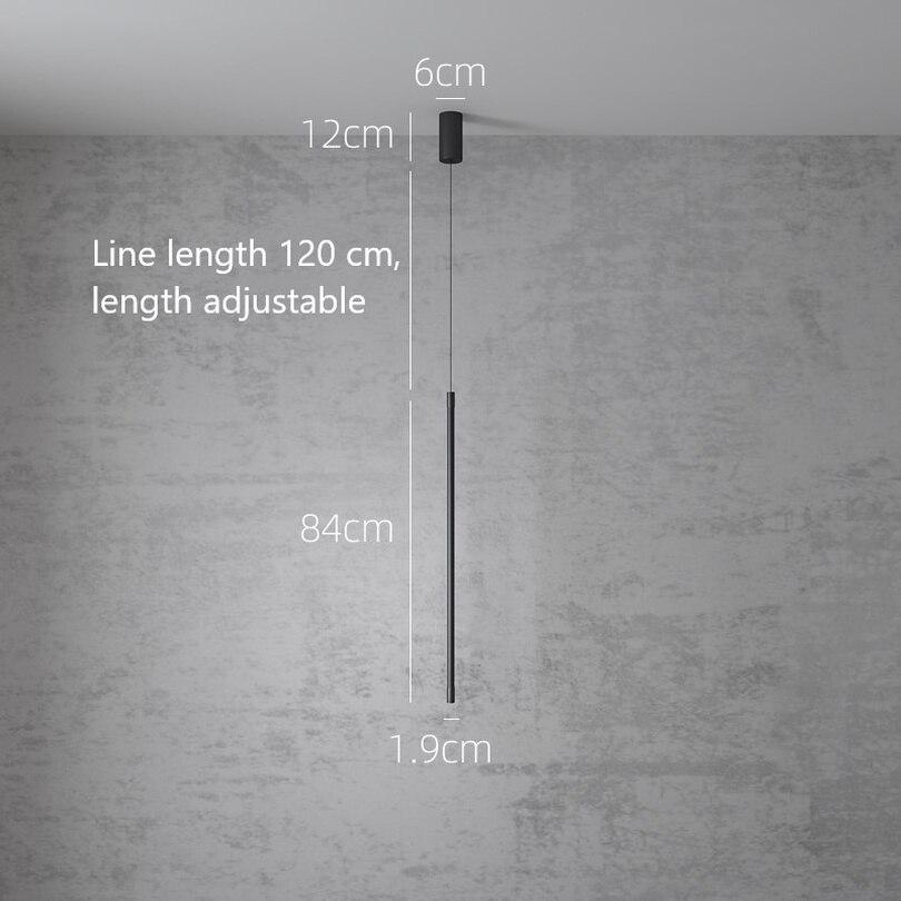 Nordic Moderne Slaapkamer Bed LED Hanglampen Minimalistische Woonkamer Hanglamp Lijn Licht Creatieve Sfeer Opknoping Lamp - 5