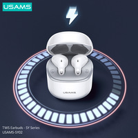 USAMS TWS Wireless Bluetooth 5.0 Earbuds Stereo Earbud HIFI Headset With Charging Box For Apple Andriod IOS Cellphone Earphone