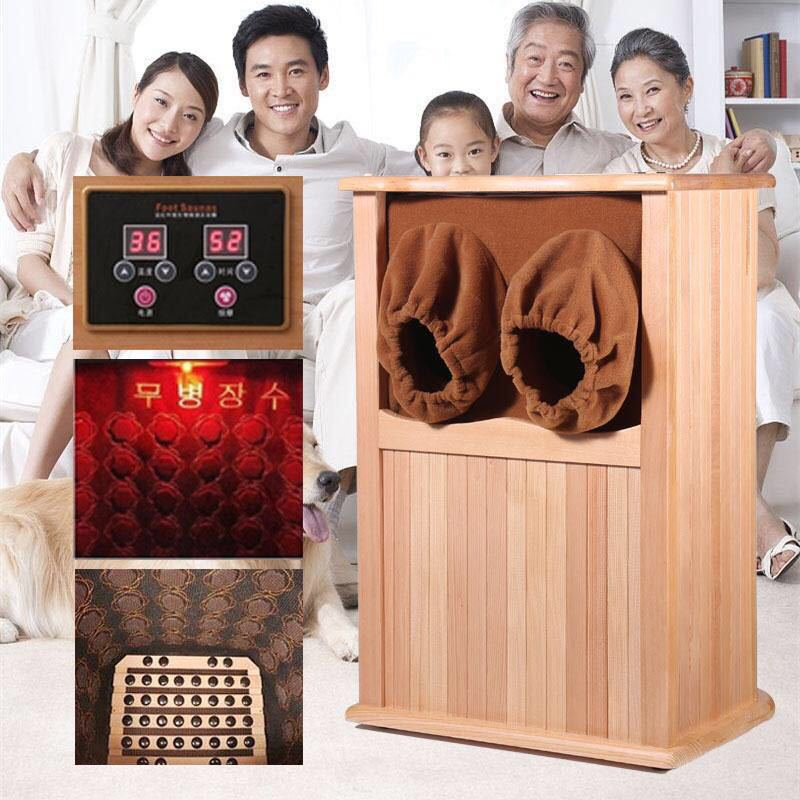 Far Infrared Foot Sauna Solid Wood Bubble Foot Barrel  Personal Care Appliances  Home Sauna Spa Infared Sauna Heater Cabin Room