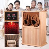 Far Infrared Foot Sauna Solid Wood Bubble Foot Barrel Personal Care Appliances Home Sauna Spa Infared Sauna Heater Cabin Room