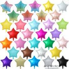 10 шт 18 дюймов градиентные/Макарон/чистые цветные шары со звездами