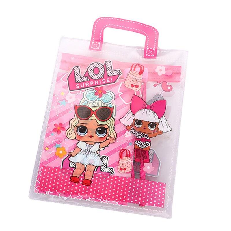 LOL Surprise Dolls PVC Children's Stationery Sets Lols Bag Original School Supplies Birthday Gifts Girls Christmas Lol For Kids