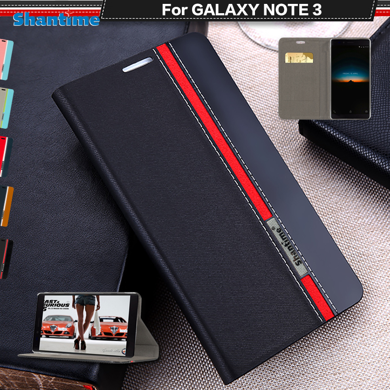For <font><b>Samsung</b></font> Galaxy <font><b>NOTE</b></font> <font><b>3</b></font> <font><b>Case</b></font> <font><b>Flip</b></font> Luxury Fashion PU Leather <font><b>Case</b></font> For Galaxy N9005 Silicon Soft Back Cover With Phone Stand image
