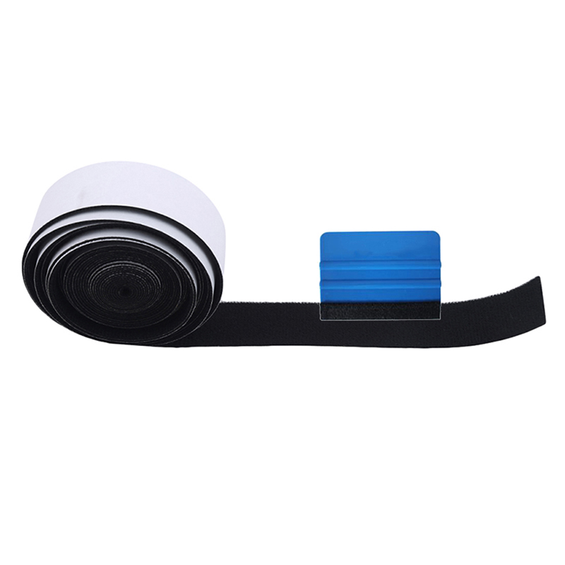 500CM Carbon Fiber Vinyl Squeegee Spare Suede Fabric Cloth Car Wrap Tool Window Tint Scraper No Scratch Protector Edge