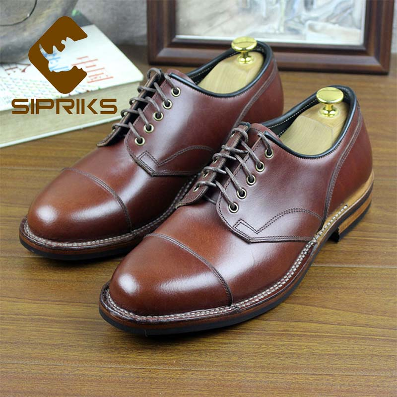 Sipriks hommes luxe italien personnalisé Goodyear Welted chaussures rouge marron veau cuir Cap-Toe robe chaussures caoutchouc semelle formelle smoking 45
