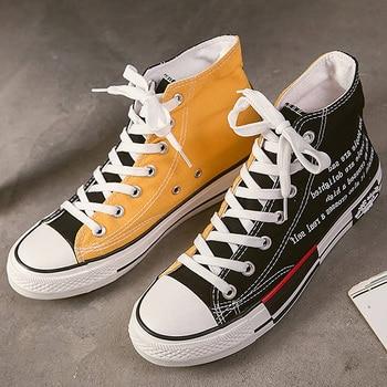 Designer Canvas Shoes Men High Top Sneakers Leisuer Comfortable Sneakers Men's Autumn Shoes Casual Sneakers Boys Sports Shoes