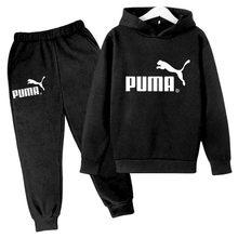 Meninos meninas conjuntos de roupas impressão moda hoodies algodão esportes calças compridas conjunto crianças casuais terno para 3-14 anos crianças sportwear