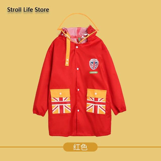 Waterproof Raincoat Kids Cute Red Long Rain Poncho Children Rain Coat Jacket Hiking Thickening Rainwear Capa De Chuva Gift Ideas 4