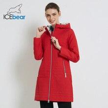 ICEbear осеннее пальто длинное хлопковое Женское пальто с капюшоном модная Женская Стеганая куртка-парка для женщин 17G292D