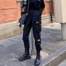 Женские брюки карго houzhou в Корейском стиле модель 2020 модные