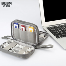 Mini caso da movimentação do flash de usb de bubm, organizador do cartão de memória do caso do curso do disco de u do cabo do fone de ouvido do saco do storge de digitas protable universial