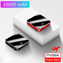 30000mAh For Xiaomi Portable Powerbank Mini Power Bank Mirro