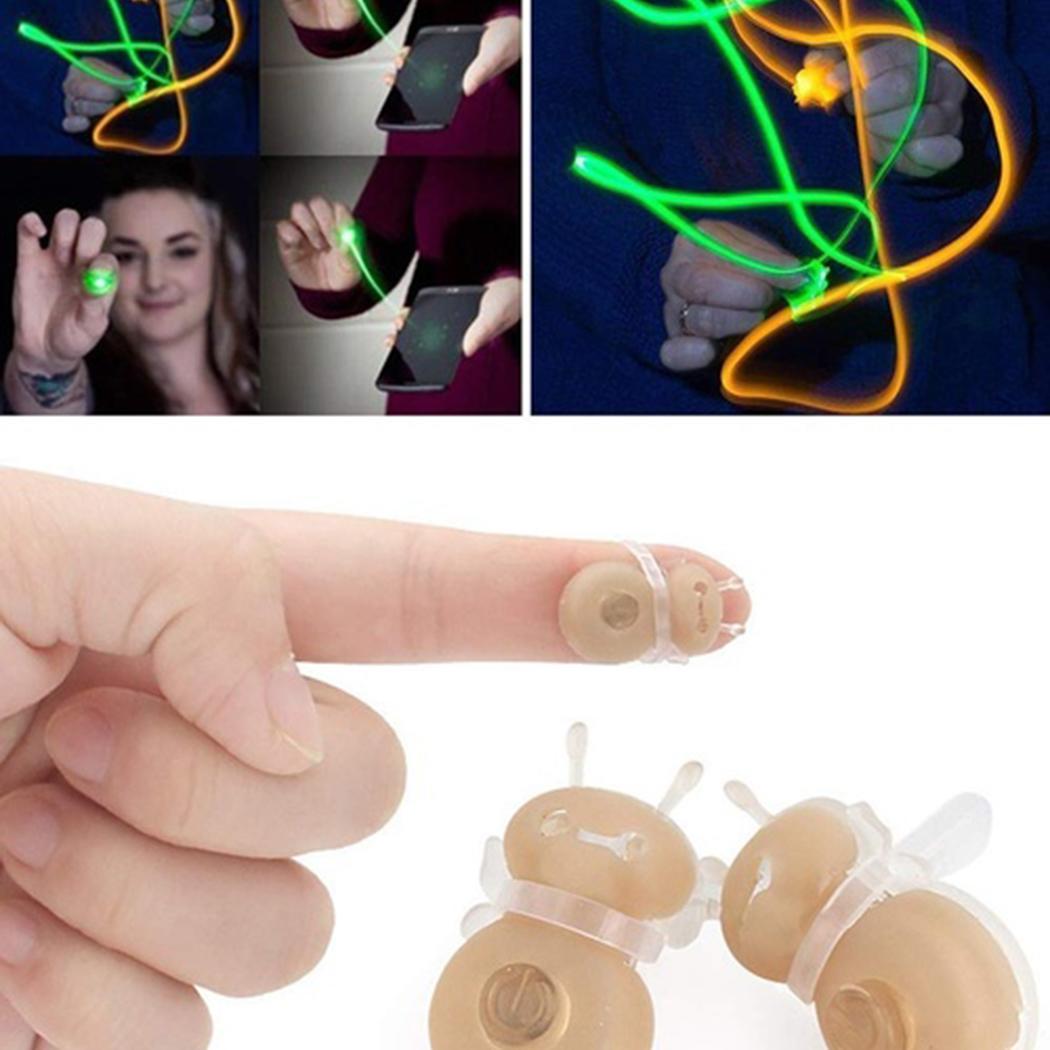 New Kids Children Mini 3D Bee Fluorescent Over 18 Years Old Shape Light Finger Light Toys