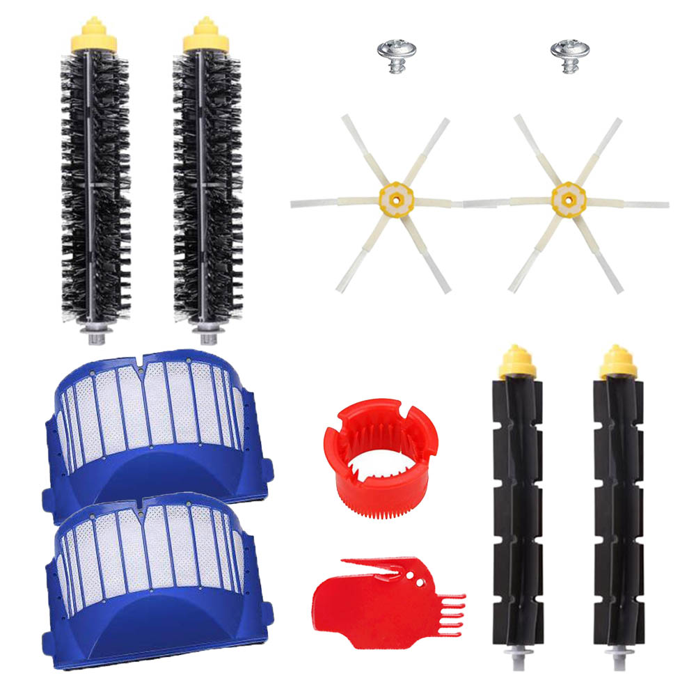 Replacement Kits For IRobot Roomba 600 Series 610 620 630 650 660 Vacuum Cleaner Beater Bristle Brush/Hepa Filter/Side Brush