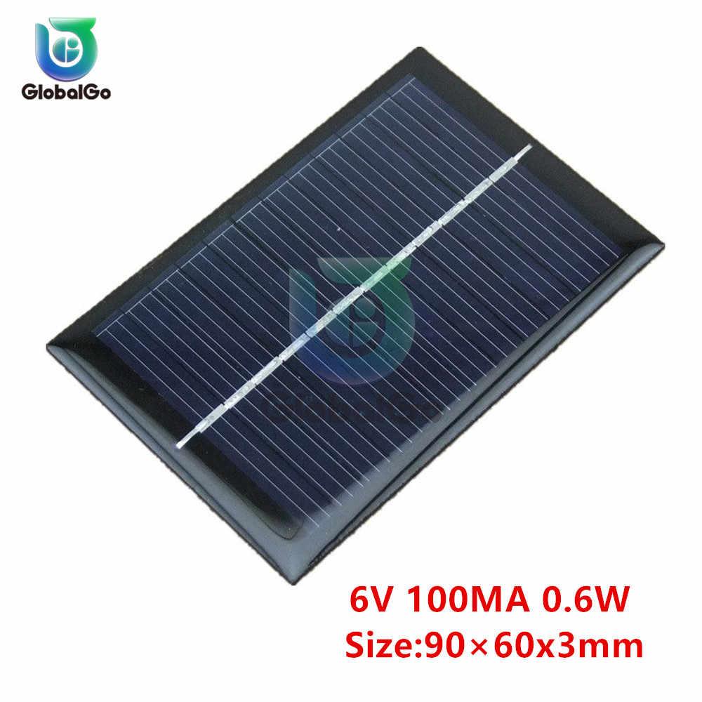 Panel słoneczny 6V Mini układ słoneczny DIY dla DC baterii telefonu komórkowego ładowarki przenośny 0.6W 1W ogniwo słoneczne na zabawki inteligentne oświetlenie domu