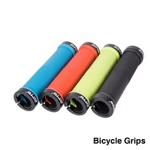 цена на 1Pair Cycling Lockable Handle Grip Anti slip Grips for MTB Folding Bike Handlebar bicycle parts Alloy + Rubber AG16