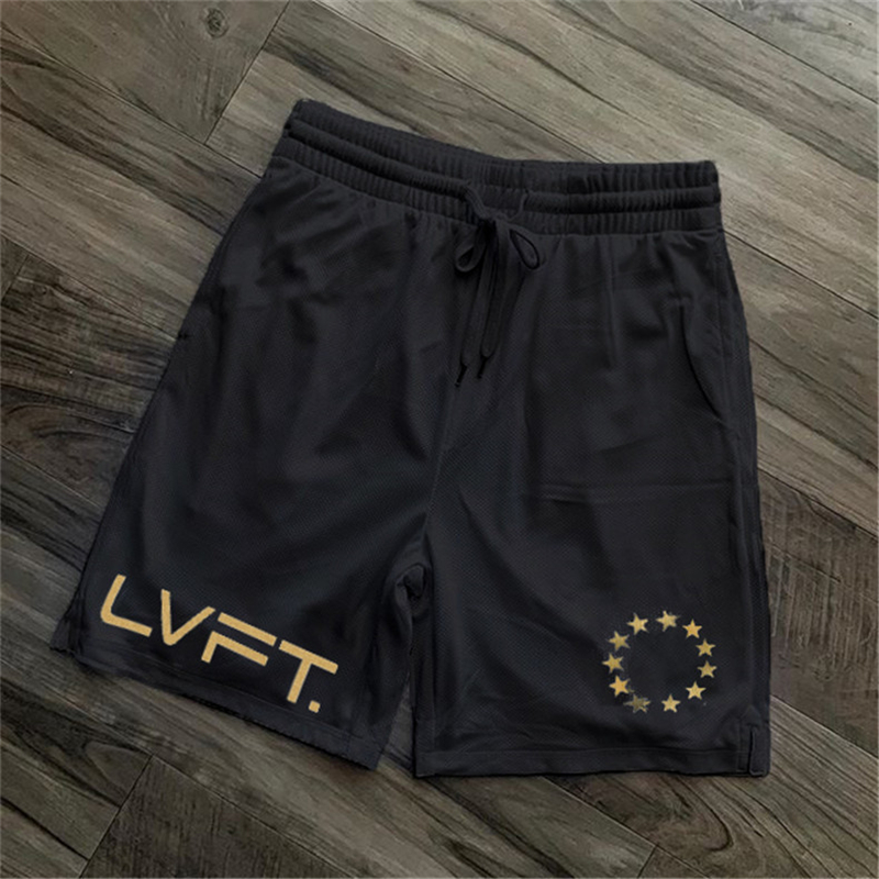 NEW Men Fitness Bodybuilding Shorts Summer Gym Workout Shorts Male Breathable Mesh Quick Dry Sportswear Jogger Beach Short Pants