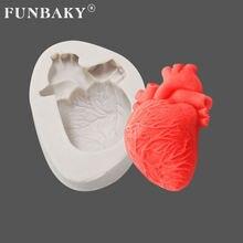 Funbaky креативная форма для Хэллоуина в форме свечи сердца