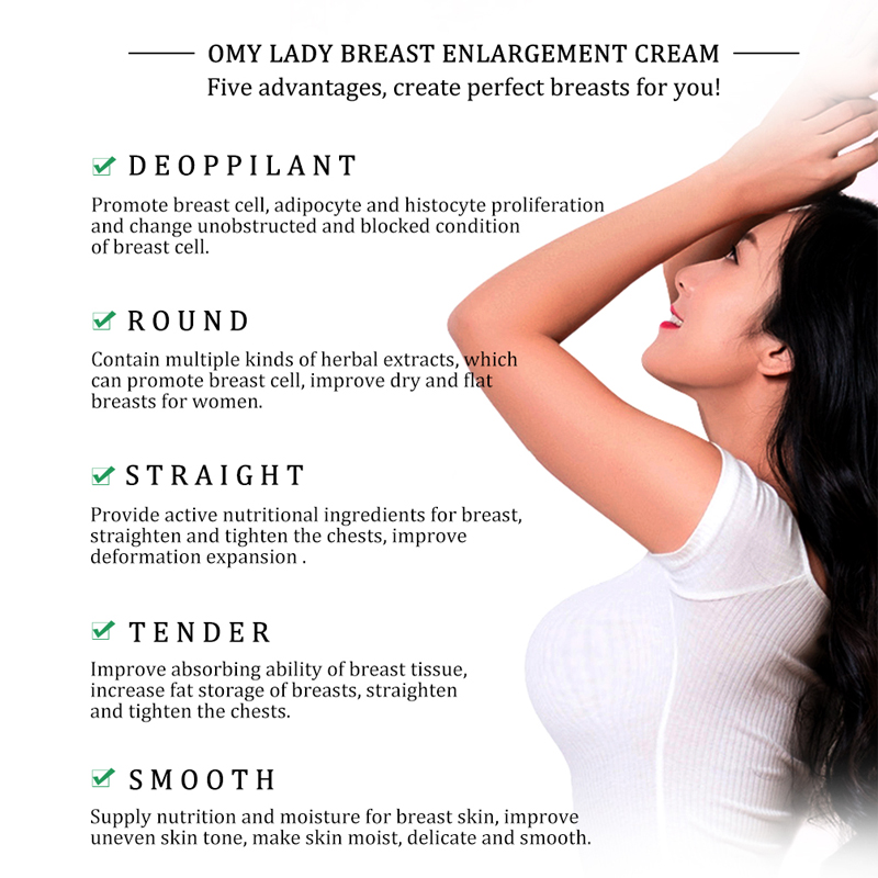 OMY LADY Breast Enhancement Cream Breast Enlargement Promote Female Hormones Breast Lift Firming Massage Best Up Size Bust Care 5