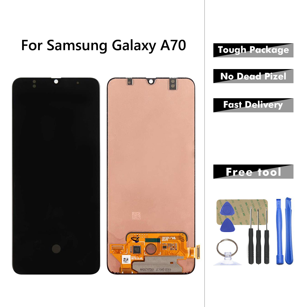 Super AMOLED LCD For Samsung Galaxy A70 A705 LCD Display Touch Screen Digitizer Assembly For Samsung A70 A705 A705F A705FD LCD