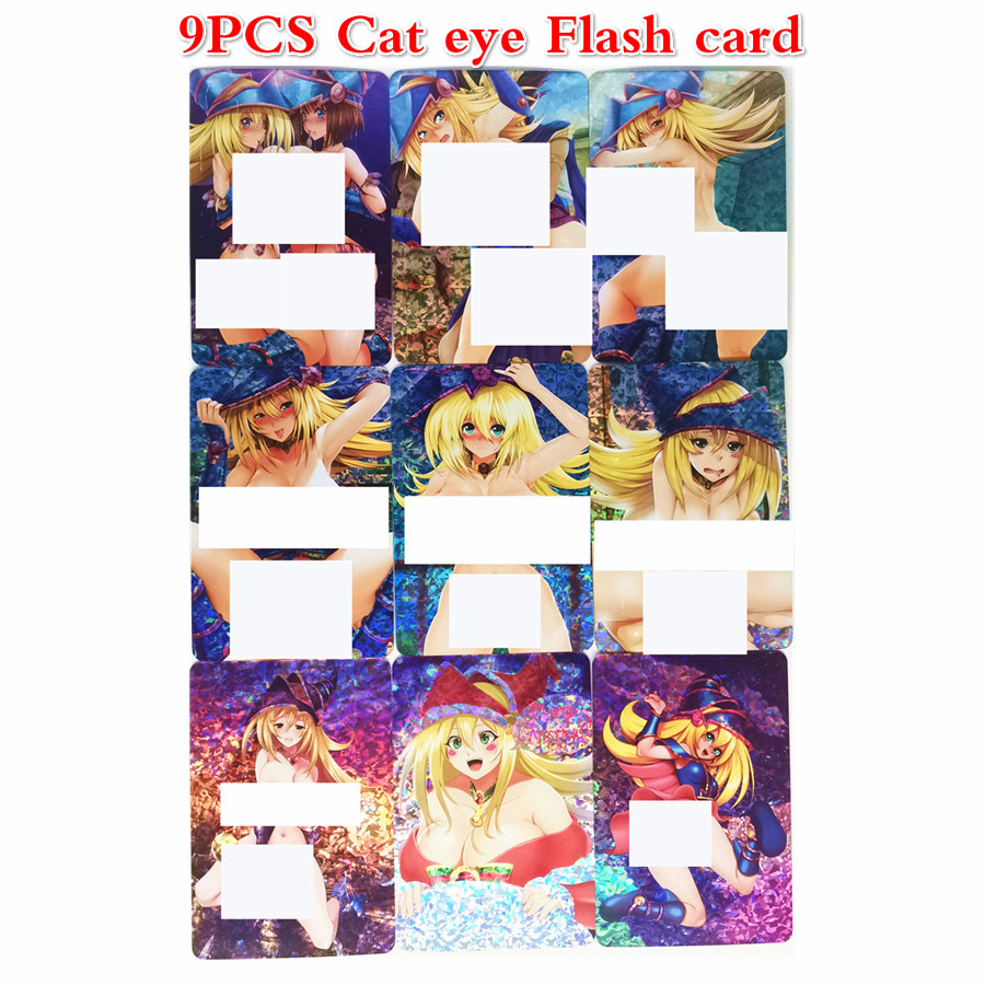 9pcs/set Yu Gi Oh Dark Magician Girl DIY Colorful Toys Hobbies Hobby Collectibles Game Collection Anime Cards