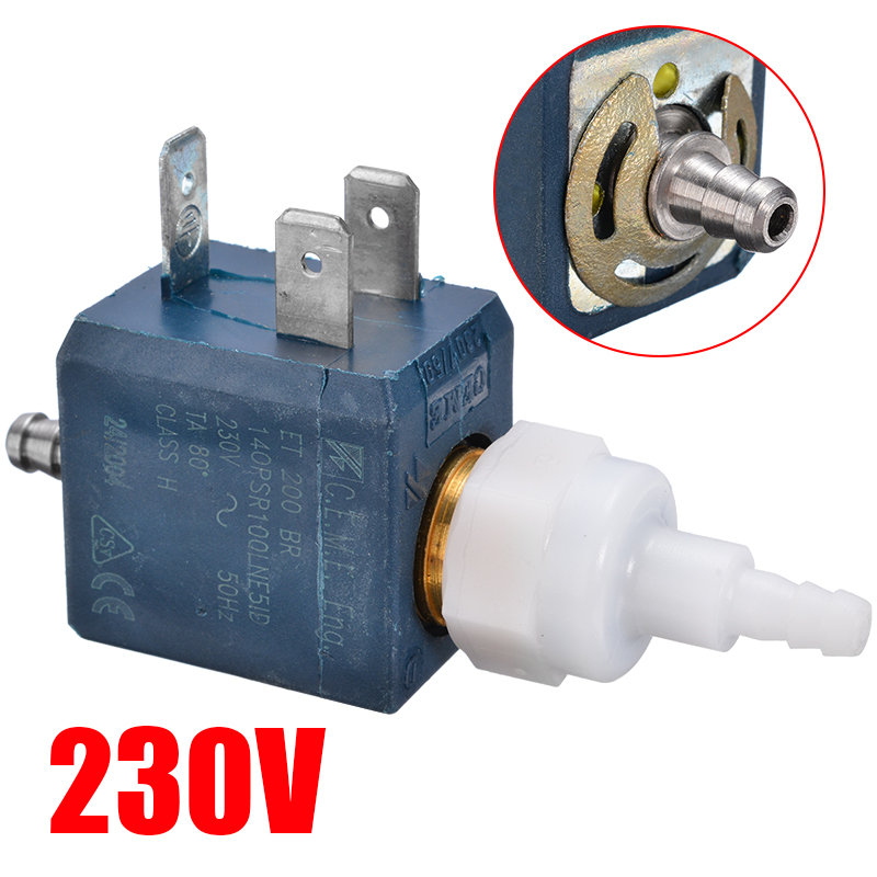 1pc New Stainless Steel Ceme Model ET200BR ET 200 BR Water Pump Electromagnetic Valve Coffee Machine Water Valve 230V 50Hz
