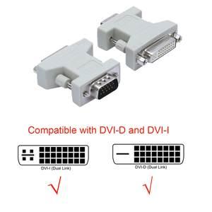 Adapter DVI-I Dual-Link Converter VGA Female New 5 TO 24 24--1