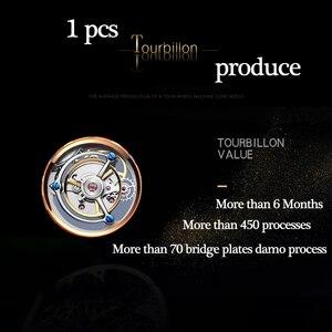 Image 4 - Original Tourbillon montre GUANQIN 2019 nouvelle horloge hommes étanche mécanique saphir haut en cuir marque de luxe Relogio Masculino