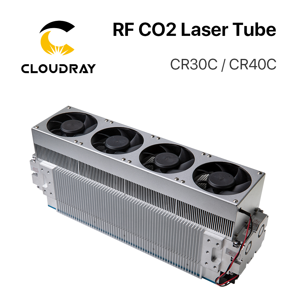 Cloudray 30W 40W CRD CO2 Laser Tube CR30C / CR40C RF Laser Tube For CO2 Laser Engraving Marking Machine